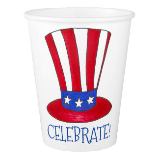 Celebrate July 4th Patriotic Uncle Sam USA America