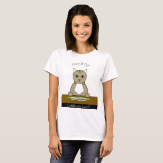 """""""Celebrate Lent!"""" T-Shirt with Cat"""