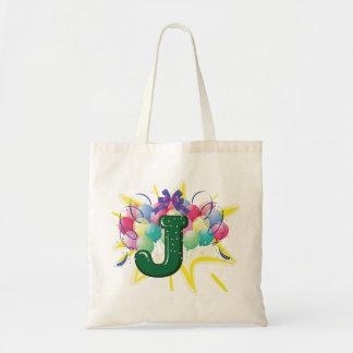 Celebrate Letter J Tote Bag