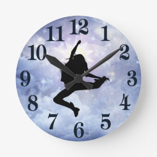 Celebrate life and light round clock