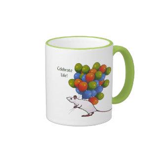 Celebrate Life! Mouse With MANY Balloons Mug