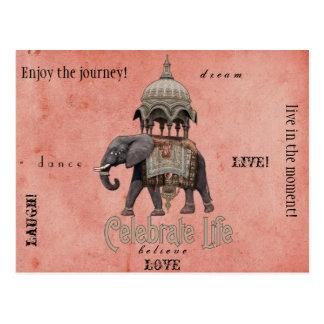 Celebrate life post card
