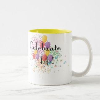 Celebrate Life Two-Tone Mug