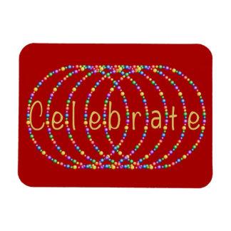 Celebrate Lights Design Rectangular Photo Magnet