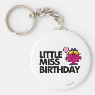 Celebrate Little Miss Birthday Basic Round Button Key Ring