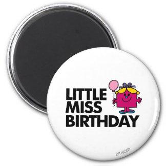 Celebrate Little Miss Birthday 6 Cm Round Magnet