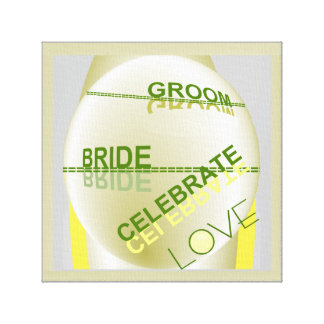 Celebrate Love by Lin Masters for Bride & Groom Canvas Print
