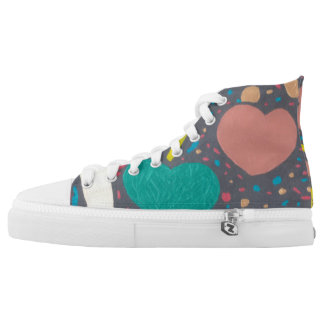Celebrate Love High Tops Printed Shoes