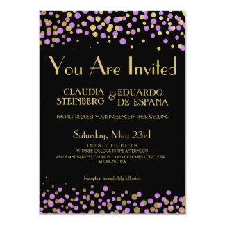 Celebrate Love – Lavender / Purple + Gold 11 Cm X 16 Cm Invitation Card