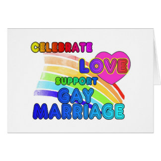 Celebrate Love-Support Gay Marriage Cards