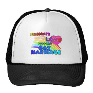 Celebrate Love-Support Gay Marriage Hat