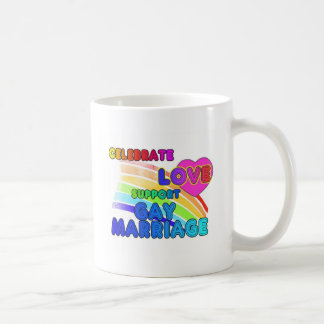 Celebrate Love-Support Gay Marriage Coffee Mugs