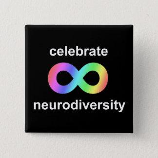Celebrate neurodiversity 15 cm square badge