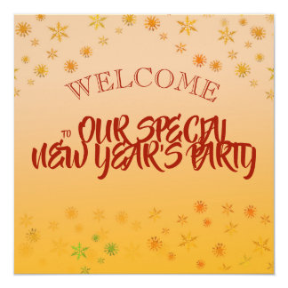Celebrate New Year party invitation