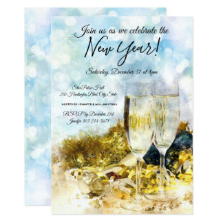 Celebrate New Year's Eve Party Invitation
