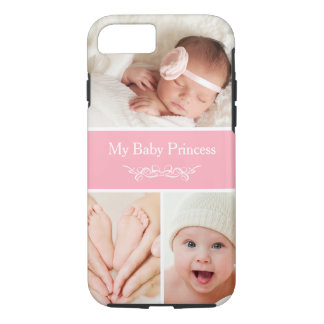 Celebrate Newborn Baby Girl Princess Photo Collage iPhone 7 Case