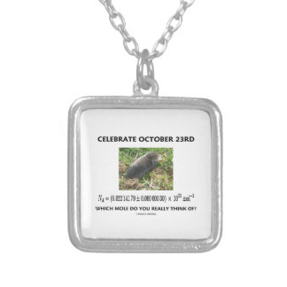 Celebrate October 23rd Which Mole Really Think Of? Necklace
