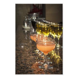 Celebrate -  Orange Girly Drinks in Fancy Glasses Photo Print