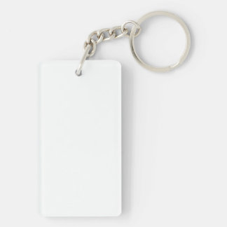 CeLeBrATe OuR dIfFeReNcEs! Single-Sided Rectangular Acrylic Key Ring