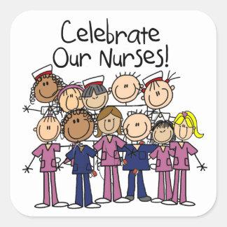 Celebrate Our Nurses Square Sticker