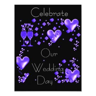 Celebrate Our Wedding Day 11 Cm X 14 Cm Invitation Card