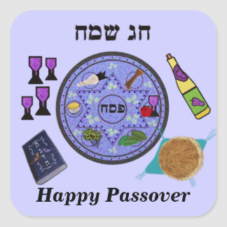 Celebrate Passover Square Sticker