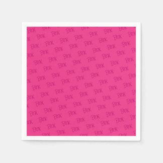 Celebrate pink event paper serviettes