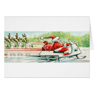 Celebrate   Santa Snowmobile Card