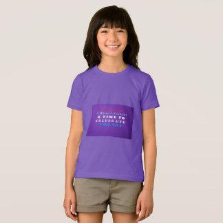 Celebrate The Day Girls Jersey Shirt Purple