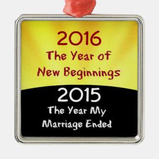 Celebrate the Divorce Metal Ornament