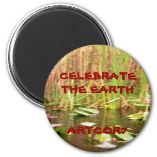 Celebrate the Earth Water Lilies Magnet