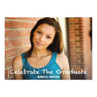 Celebrate the Graduate 13 Cm X 18 Cm Invitation Card