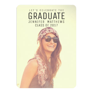 Celebrate the Graduate Photo 2017 Graduation Party Card