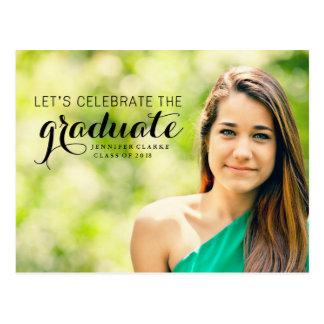 Celebrate The Graduate Photo Postcard