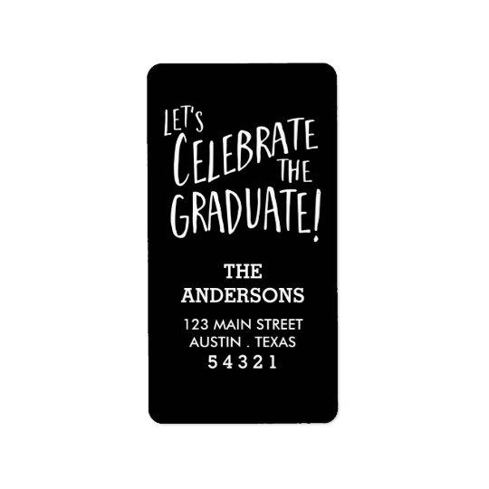 Celebrate the Graduate Vertical Address Label