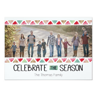 Celebrate the Season 13 Cm X 18 Cm Invitation Card