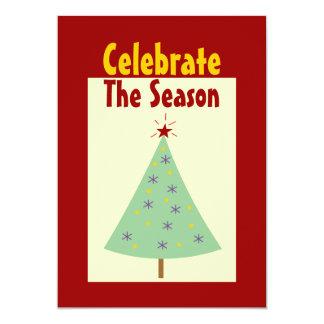 "Celebrate The Season Holiday Party Invitations 5"" X 7"" Invitation Card"