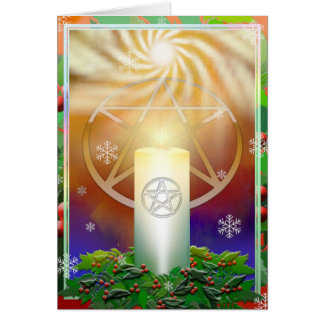 Celebrate the Warmth of the Yule Sun Greeting Card
