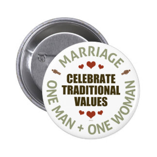 Celebrate Traditional Values 6 Cm Round Badge