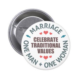 Celebrate Traditional Values 6 Cm Round Badge