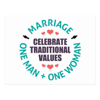 Celebrate Traditional Values Postcards