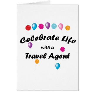 Celebrate Travel Agent Stationery Note Card