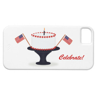 Celebrate USA Flag Cake Patriotic 4th Of July Barely There iPhone 5 Case