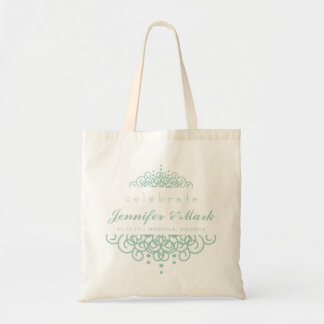 Celebrate Wedding Event Tote Favor in Mint Green Budget Tote Bag