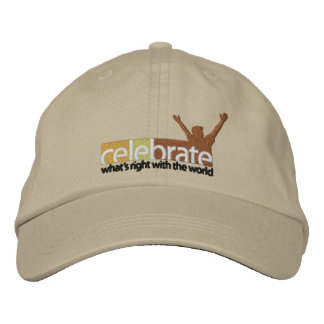 Celebrate-Whats-Right-no cut line RGB-300dpi Embroidered Hat