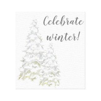 Celebrate Winter Snowy Tree Wall Art