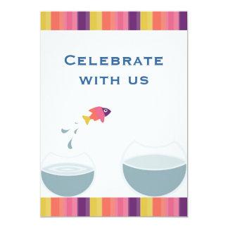 Celebrate with us 13 cm x 18 cm invitation card