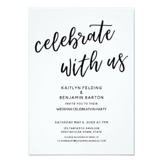 """Celebrate with Us"" Casual Modern Wedding Party Card"