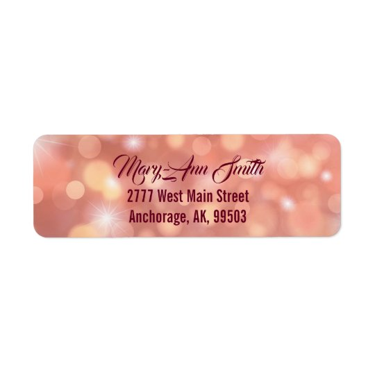 Celebrate your birthday return address sticker