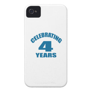 Celebrating 04 Years Birthday Designs iPhone 4 Covers